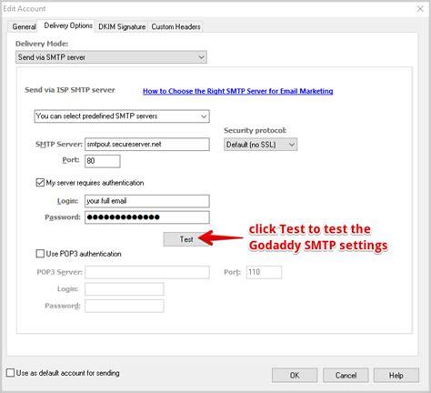 godaddy email settings  easymail glocksoft kb
