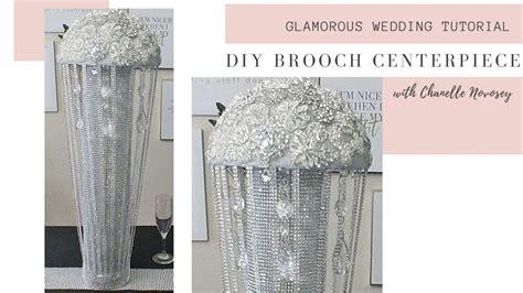 DIY Bling 💎 Brooch Wedding Centerpiece Rose Gold Brooch