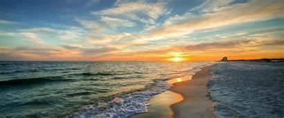 Gulf Shores Beach Orange Vacations Fall Sunset