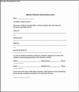 download authorization for consent to medical treatment of With sample letter of consent for medical treatment