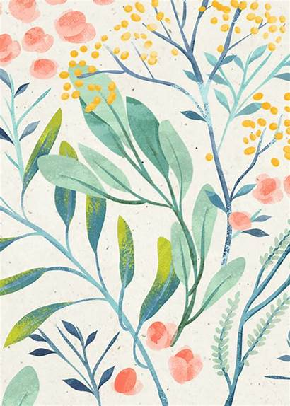 Pattern Illustration Floral Flowers Pretty Patterns Leaves