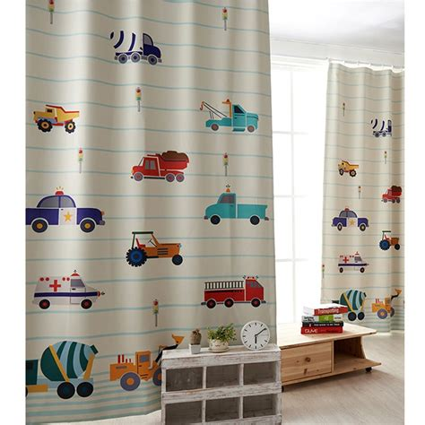 Kinderzimmer Gardinen Junge Kurz by Autos Vrachtwagens Gordijnen Leuke Kindergordijnen