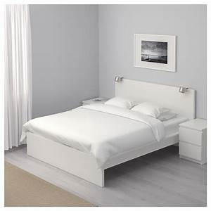 Ikea Lit 140x200 : malm cadre de lit haut blanc l nset 140x200 cm ikea ~ Teatrodelosmanantiales.com Idées de Décoration