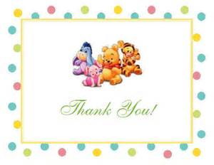 African American Baby Shower Favors by Winnie The Baby Pooh And Friends Baby Shower Thank You Cards