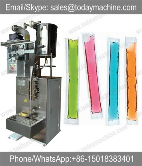 ml liquid strip filling sealing packing machine  icepop ice lolly juice vffs ls