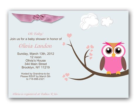 girl baby shower invitations baby shower invitations for best baby decoration