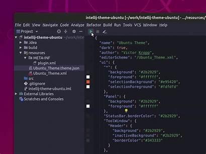 Theme Intellij Ubuntu Idea Editor Applying