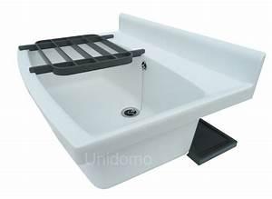 Abu ausgussbecken weiss maxi 70cm kunststoff waschbecken for Whirlpool garten mit pflanzkübel xxl keramik