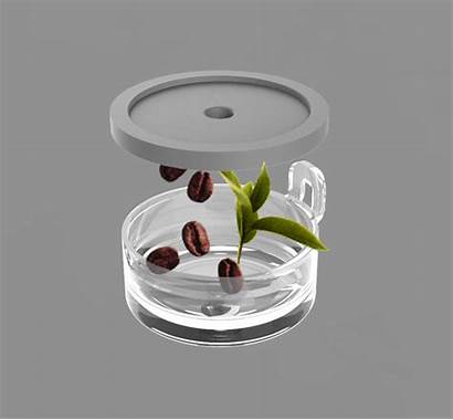 Teapot Behance Cylindrical Operated Infusers Independent Due