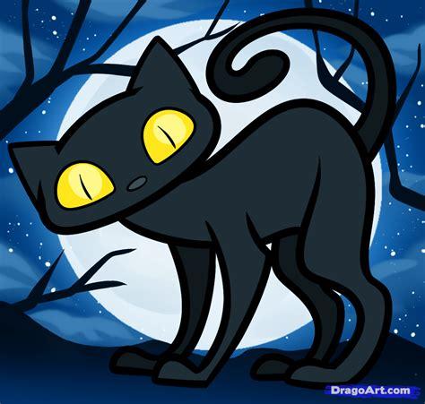 draw  halloween cat  kids step  step