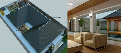 desain villa bali lantai teras rumah taman kolam