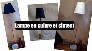 Lampe En Cuivre : lampe en cuivre et ciment youtube ~ Carolinahurricanesstore.com Idées de Décoration
