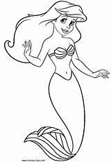 Mermaid Coloring sketch template