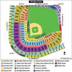 Chicago Map Wrigley Field