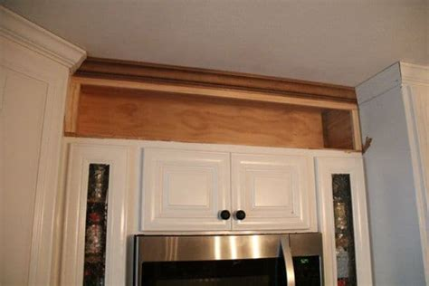 crown moulding above kitchen cabinets how to build open shelving above cabinets for custom look 8513