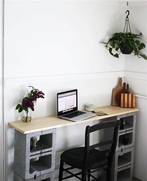 idee bureau petit espace parpaing creux comment en faire des meubles fonctionnels