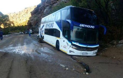 No Injuries After Greyhound Bus Gets Stuck