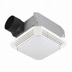 Shop broan 35 sone 70 cfm white bathroom fan at lowescom for How many cfm for bathroom fan