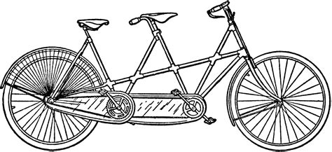 tandem bicycle clipart