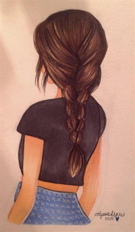 drawing  girl  long hair   girl hair drawing