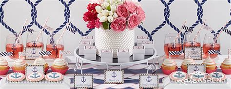 Nautical Themed Bridal Shower - nautical bridal shower favors and decor kate aspen