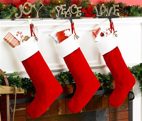 Red Velvet Personalized Christmas Stocking with White