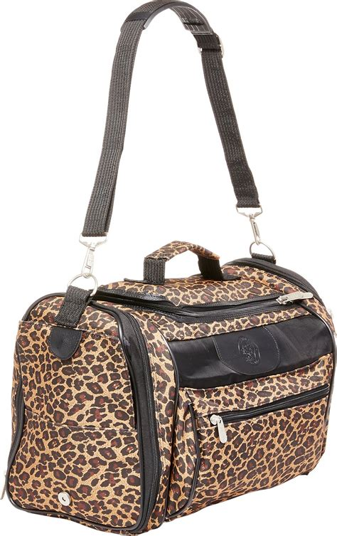 sherpa pet carrier sherpa cat tote pet carrier leopard print chewy com