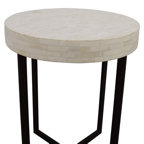 west elm side table 78 off west elm west elm bone side table tables