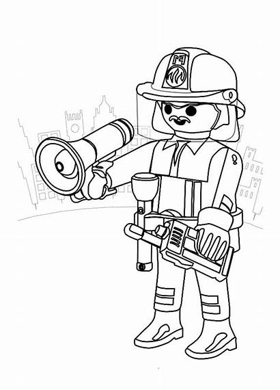 Coloring Pages Playmobils Printable Justcolor