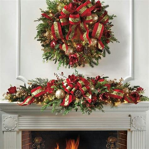 wreath  mantle decorations decorated christmas