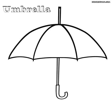 umbrella colouring pages clipart