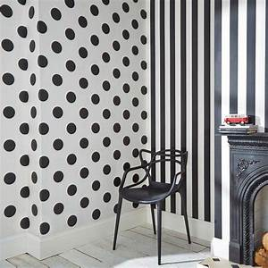 graham brown black and white monochrome stripe removable With markise balkon mit tapete mit punkten