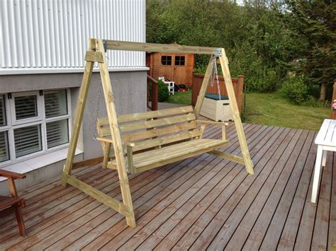 build a standing porch swing stand diy pdf woodworking