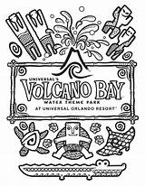 Volcano Bay Coloring Universal Pages Studios Orlando Water Got Template Park Theme Covered Ve Cool Designs These sketch template
