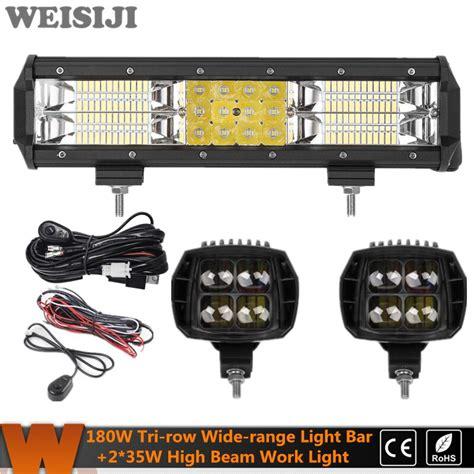 Weisiji Super Power Set Tri Row Led Work Light Bar
