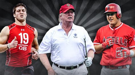 trump donald athletes many professional same somehow weight height tim tebow others