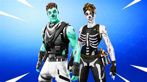Male Ghoul Trooper And Female Skull Trooper Youtube