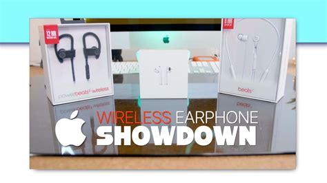 airpods vs beats x vs powerbeats wireless 3 apple wireless earphone showdown