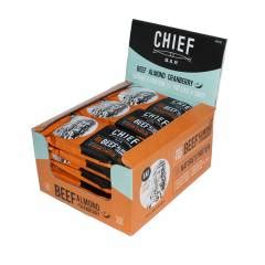 chief bar beef grass fed  almond cranberry chief
