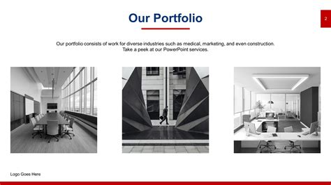 sleek portfolio powerpoint templates