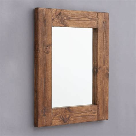 rustic wooden frame mirror buy decorative wooden framed