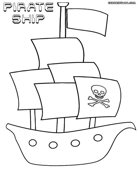 pirate ship coloring pages coloring pages