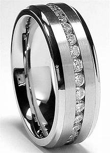 7mm men39s eternity titanium ring wedding band with cz With mens wedding ring sizes