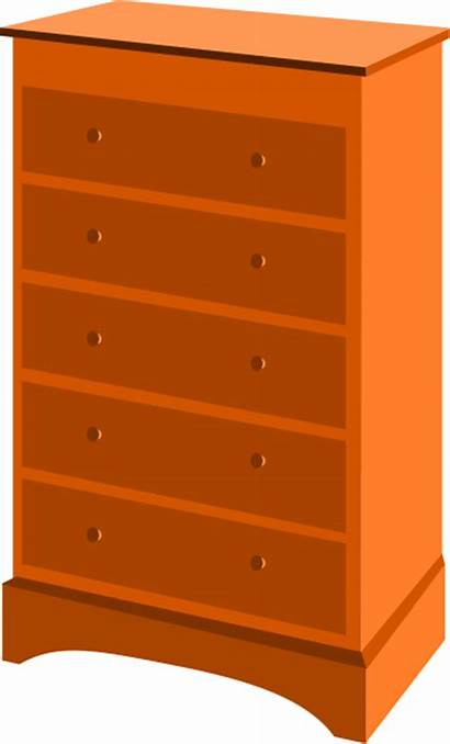 Dresser Drawer Drawers Chest Clipart Furniture Clip