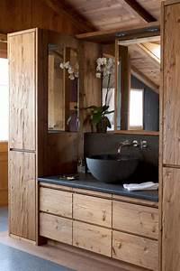 Salle De Bain En Bois : beautiful salle de bains bois et pierre contemporary ~ Dailycaller-alerts.com Idées de Décoration