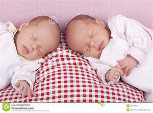 Identical Baby Twin Girls Sleeping Stock Photos - Image ...