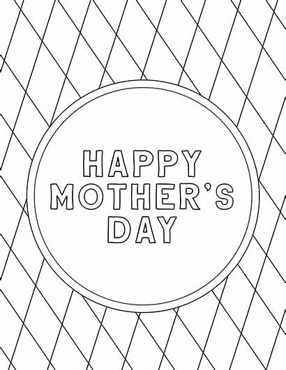 Coloring Printable Mother Happy Mothers Sheets Mom