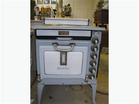 1930 Moffat Electric Stove Light Blue And White Porcelain