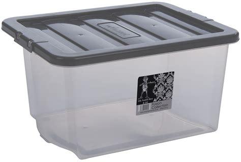 80 Litre Clear Plastic Storage Boxes With Lids