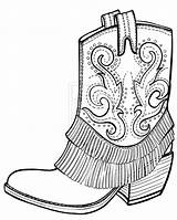 Clipart Boot Outline Cowgirl Cowboy Sketch Boots Coloring Pages Clipground sketch template